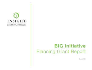 BIG Initiative Planning Grant Report